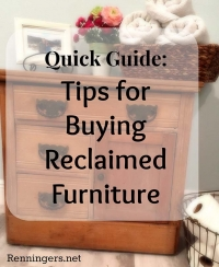 Quick Guide: Tips for Buying Reclaimed Furniture