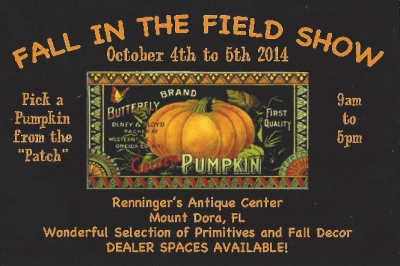 Fall in the Field Primitive Antiques Show