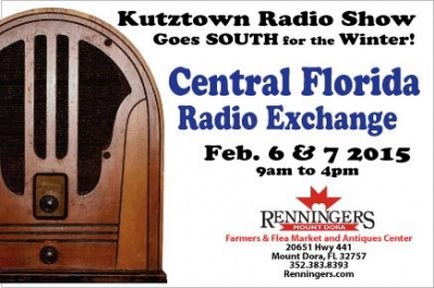 First Antique Radios Swapmeet  to be held at Renningers  Mount Dora, Fl.