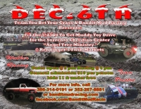 End of the year mud blow out and gift drive for the teens that often get left out at Christmas time.