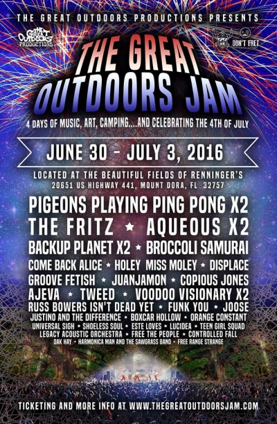 The Great Outdoors Jam at Renninger's Mount Dora this Weekend.