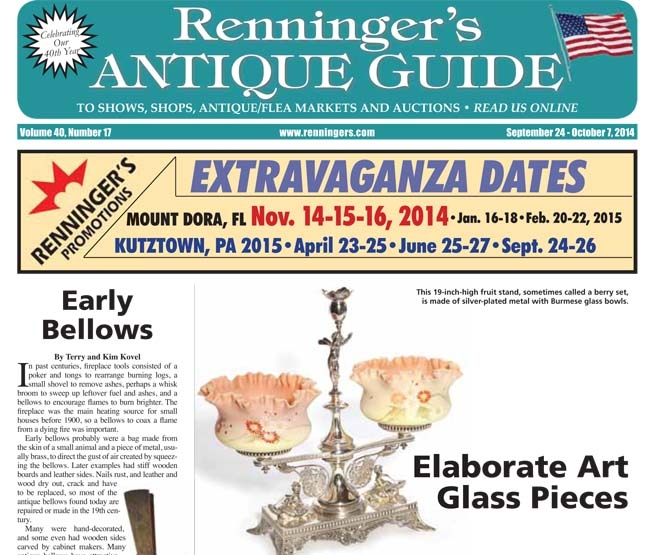 IRead the September 24 issue of Renninger's Antique Guide