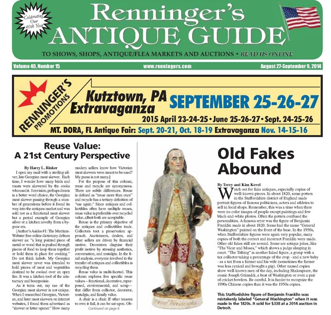 IRead the August 27 issue of the Renninger's Antique Guide