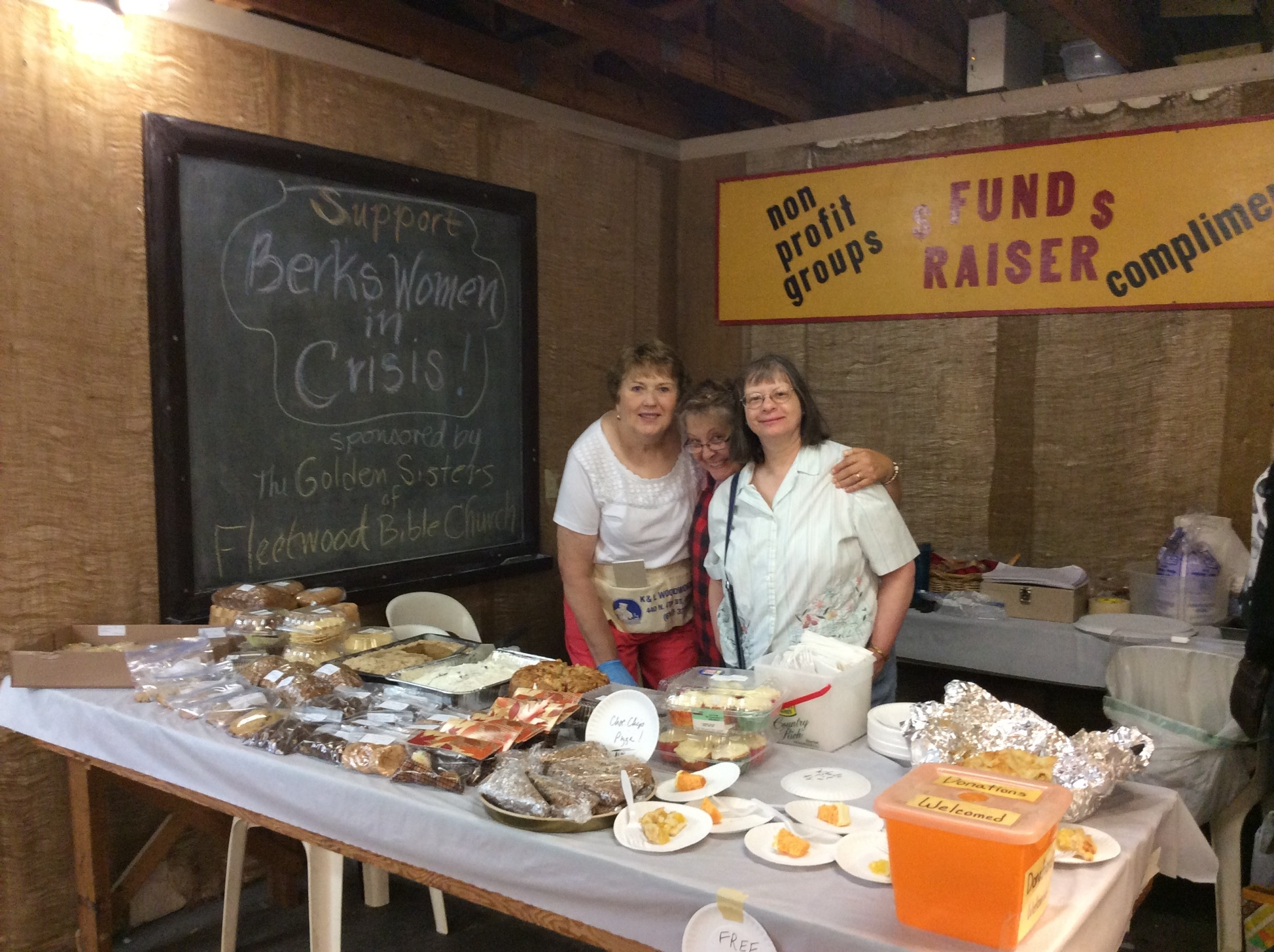 IThe Golden Sisters from Fleetwood Bible Church hold fundraiser Bake Sale  at Renninger's Farmers Market Kutztown.