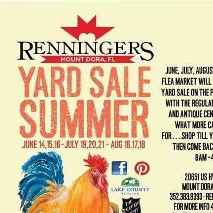 IRenninger's Yard Sale Summer: July 20th - 22nd (Mt. Dora)