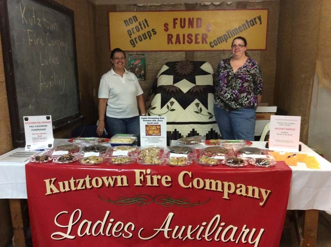 IKutztown Fire Company Ladies Auxiliary in the Community Fund Raiser Booth