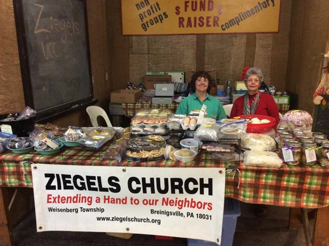 IZiegels Church in the Fundraiser Booth
