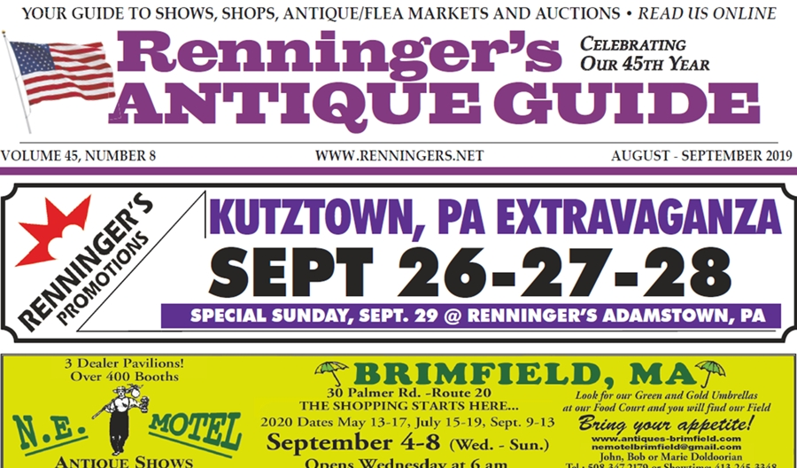 IRead the August-September 2019 Issue of Renninger's Guide