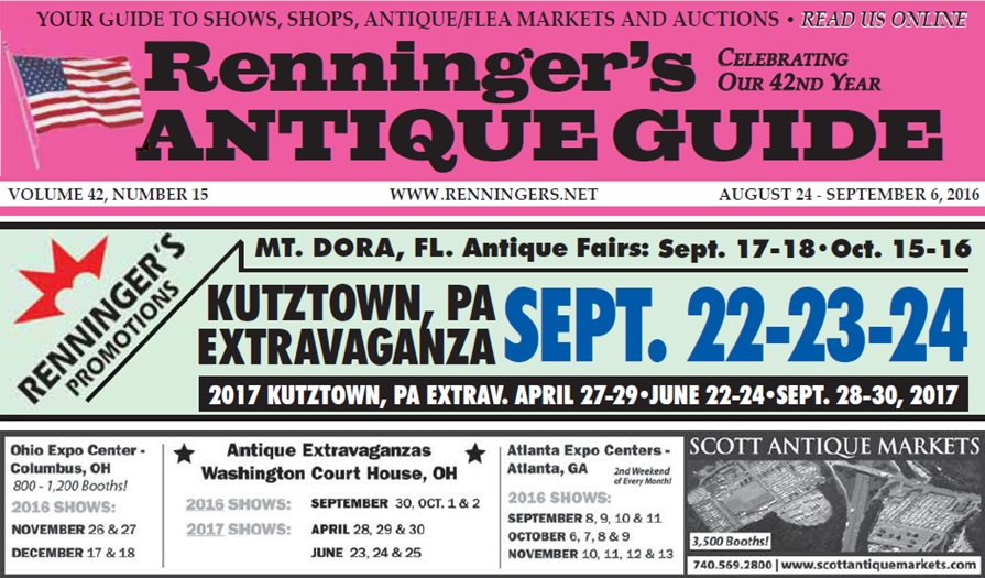 IRead the August 24th Issue of Renninger's Guide