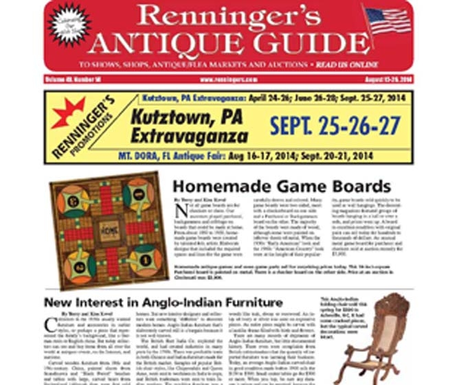 IRead the August 13 issue of the Renninger's Antique Guide
