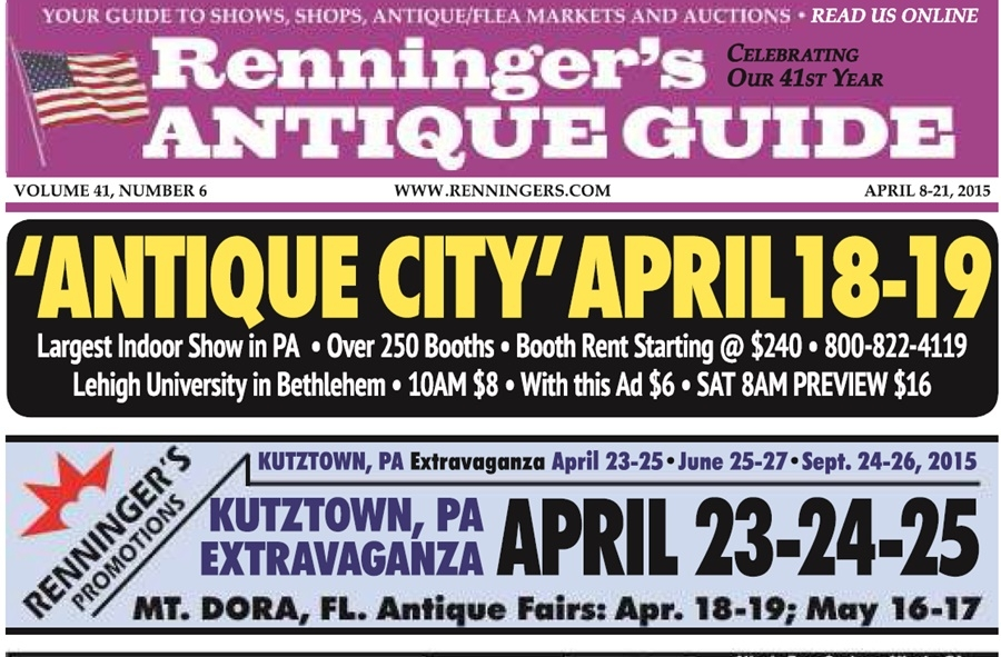 IRead the April 8th Issue of Renninger's Guide