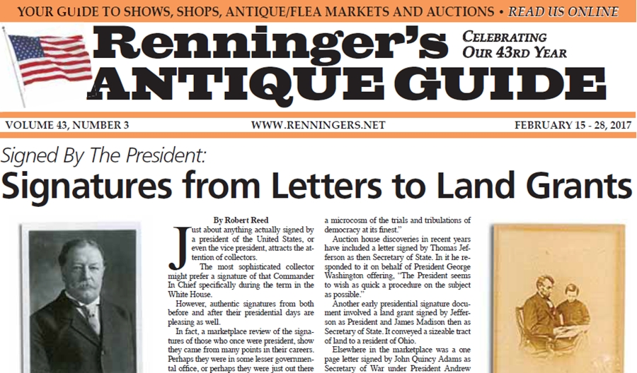 IRead the February 15th Issue of Renninger's Guide