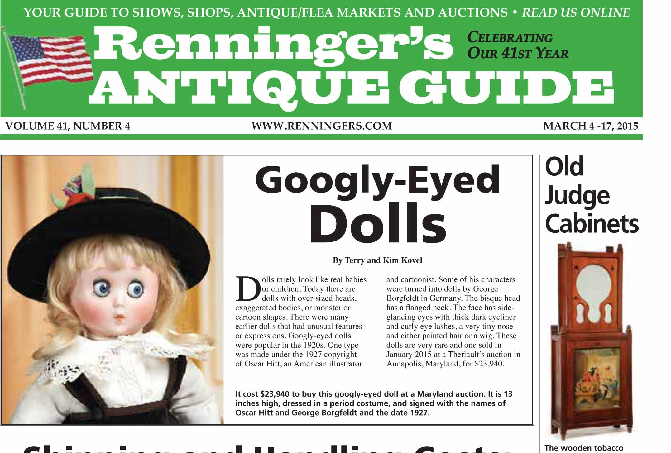 IRead the March 4 Issue of the Renninger's Antique Guide Newspaper