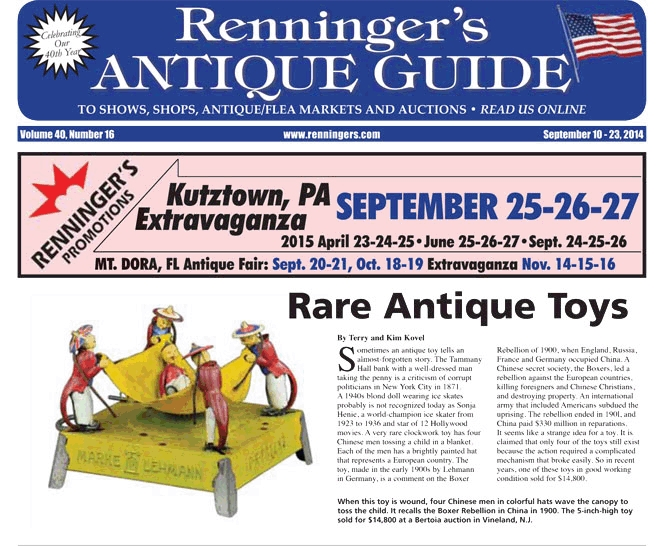 IRead the September 10 issue of Renninger's Antique Guide
