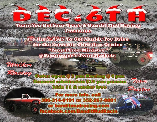 IEnd of the year mud blow out and gift drive for the teens that often get left out at Christmas time.
