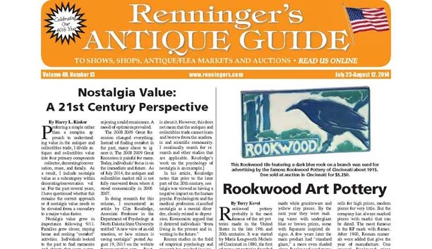 IRead the Latest issue of the Renninger's Antiques Guide