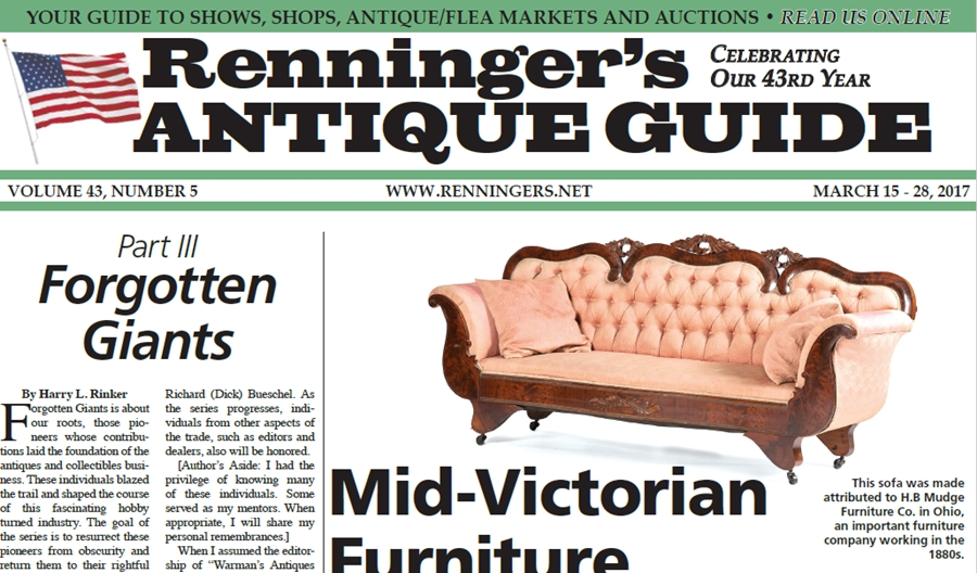 IRead the March 29th Issue of Renninger's Guide