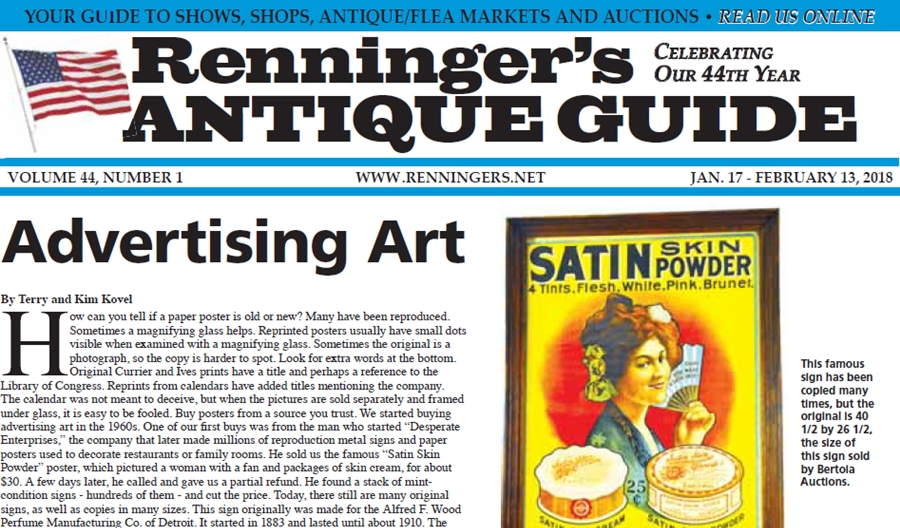 IRead the January 17th Issue of Renninger's Guide