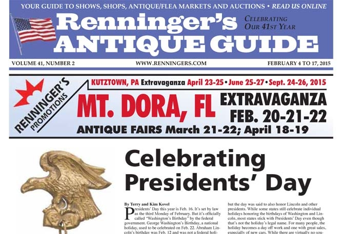IRead the February 4 issue of Renningers Antique Guide